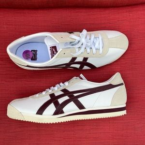 Onitsuka Tiger Sneakers Mens 10.5 Maroon White